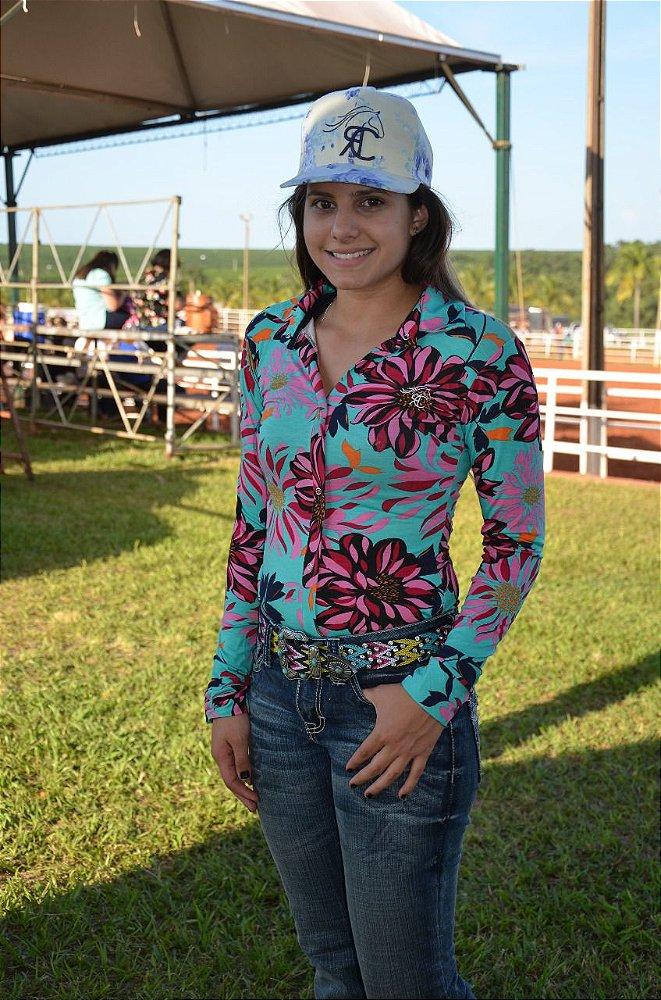5ab1bb82f2 Body Country Feminino Cowgirl Manga Longa Estampados Modelos ...