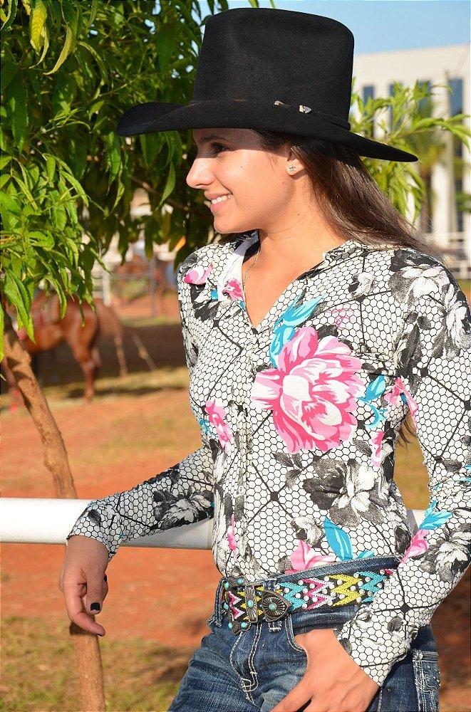 911d2073c4 Body Country Feminino Cowgirl Manga Regata Estampados Estampado Com ...