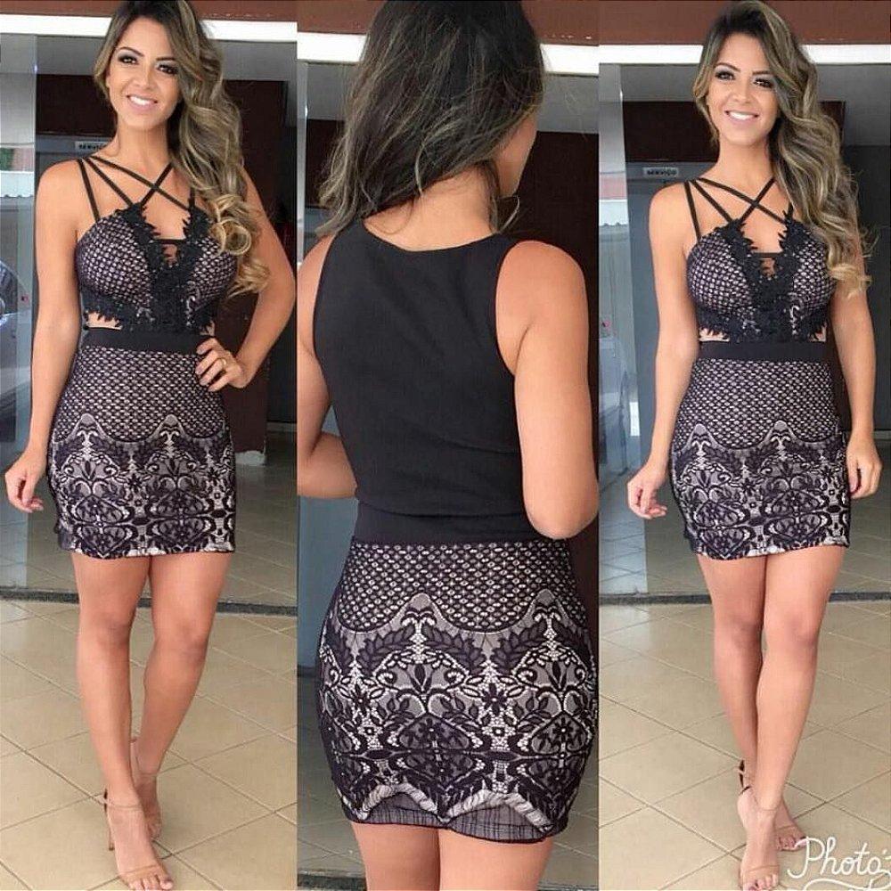 6eedbcd59 Vestido Cropped - Nina Pimenta- Vestidos Longos e Vestidos Curtos ...