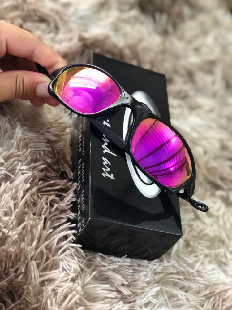 4f04532c72 Óculos Oakley Doublex X Lente Rosa Armação Preta Frete Grátis. Frete Grátis.  Código  GYFP54MKV. Óculos Oakley ...