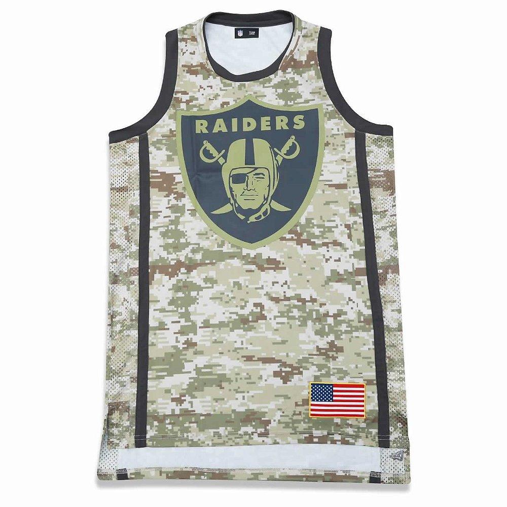 huge selection of e1e9b 3b71c Regata Jersey Oakland Raiders Salute to Service Militar NFL ...