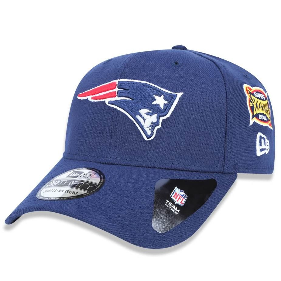 Boné New England Patriots 3930 5x Champion Azul - New Era - FIRST ... 682ab50161f