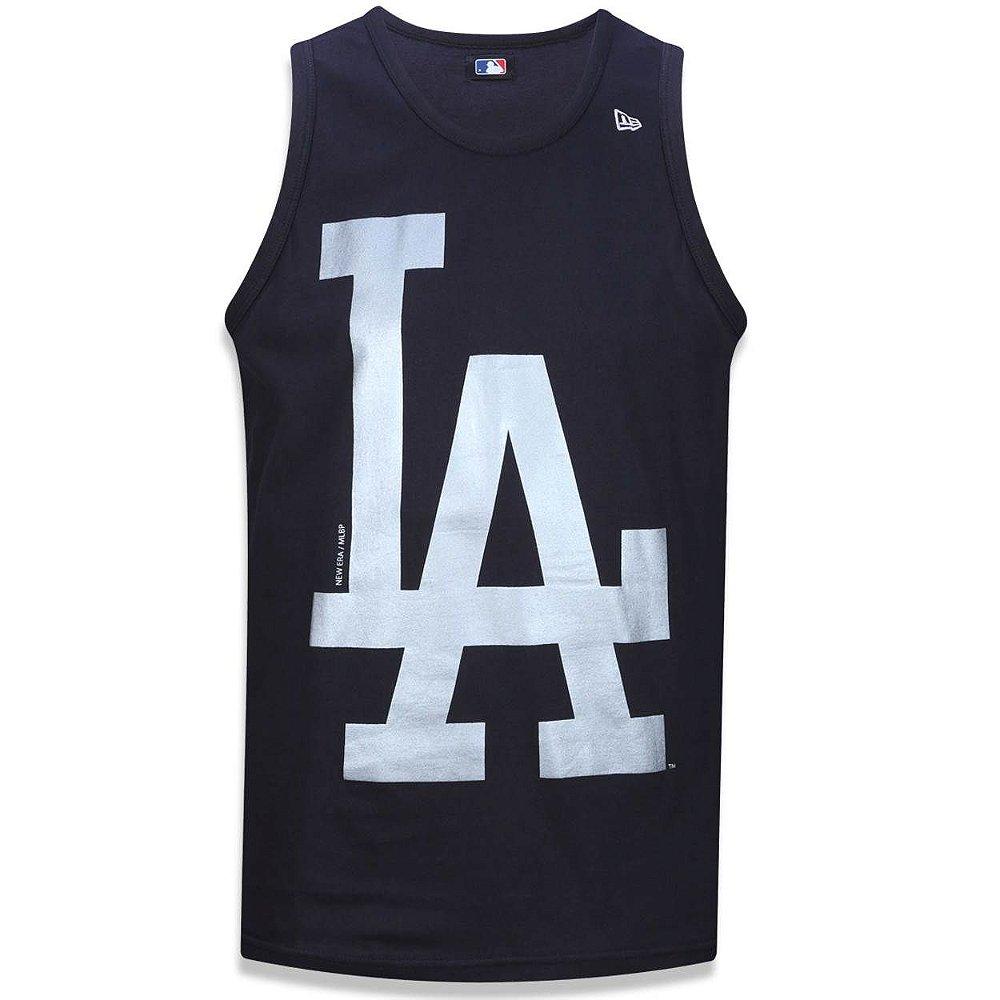 Regata Los Angeles Dodgers Basic Preta Prata - New Era - FIRST DOWN ... a7e5344095b4d