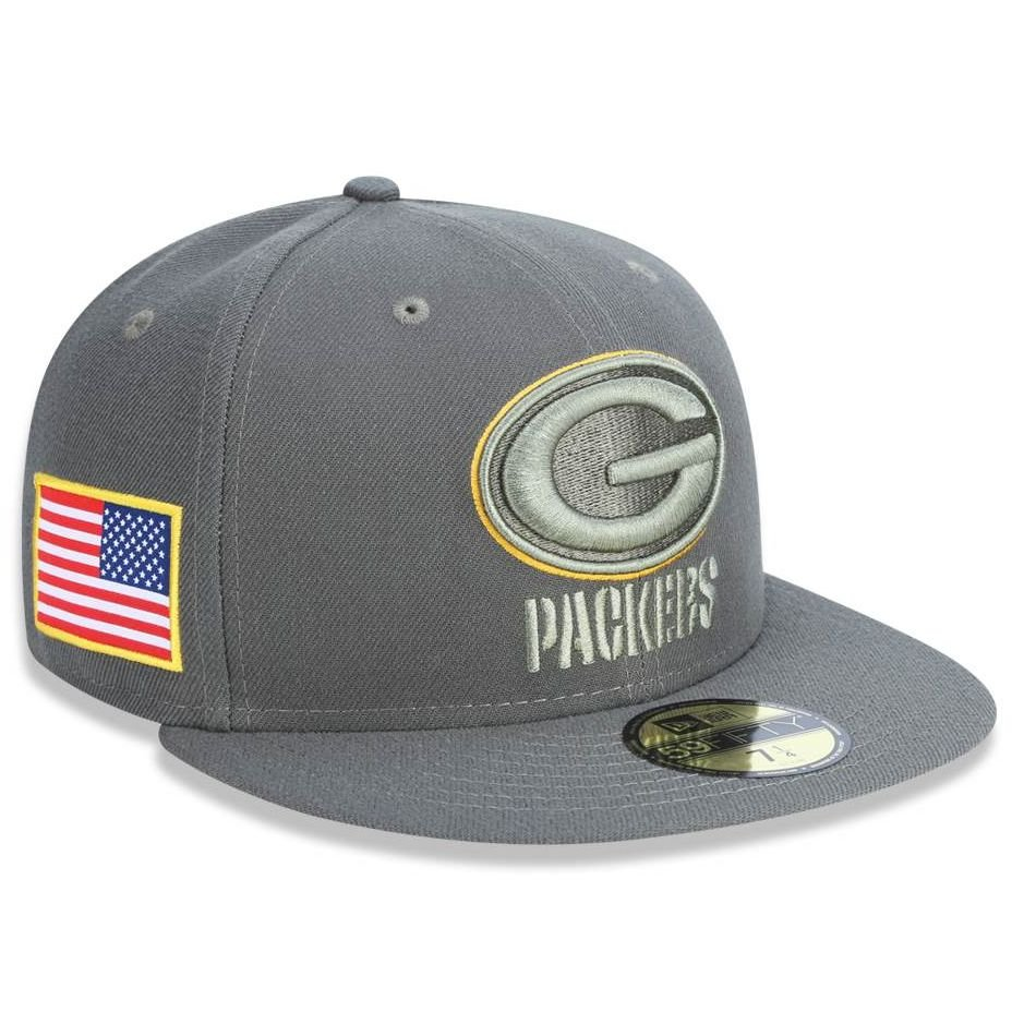 Boné Green Bay Packers 5950 Salute To Service 17 Fechado - New Era. Boné  Green Bay Packers 5950 Salute To Service 17 Fechado ... ed2b67df534a0