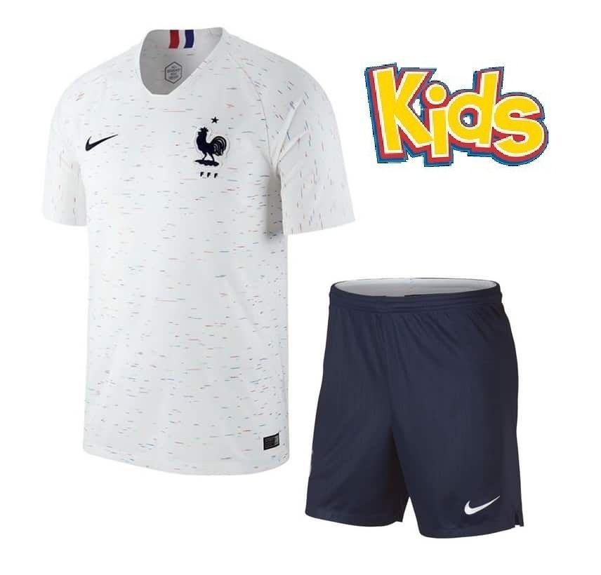 Kit Infantil Seleção da França Away 2018 2019-S Nº - Rei do Futebol 7e8dddf928bf5
