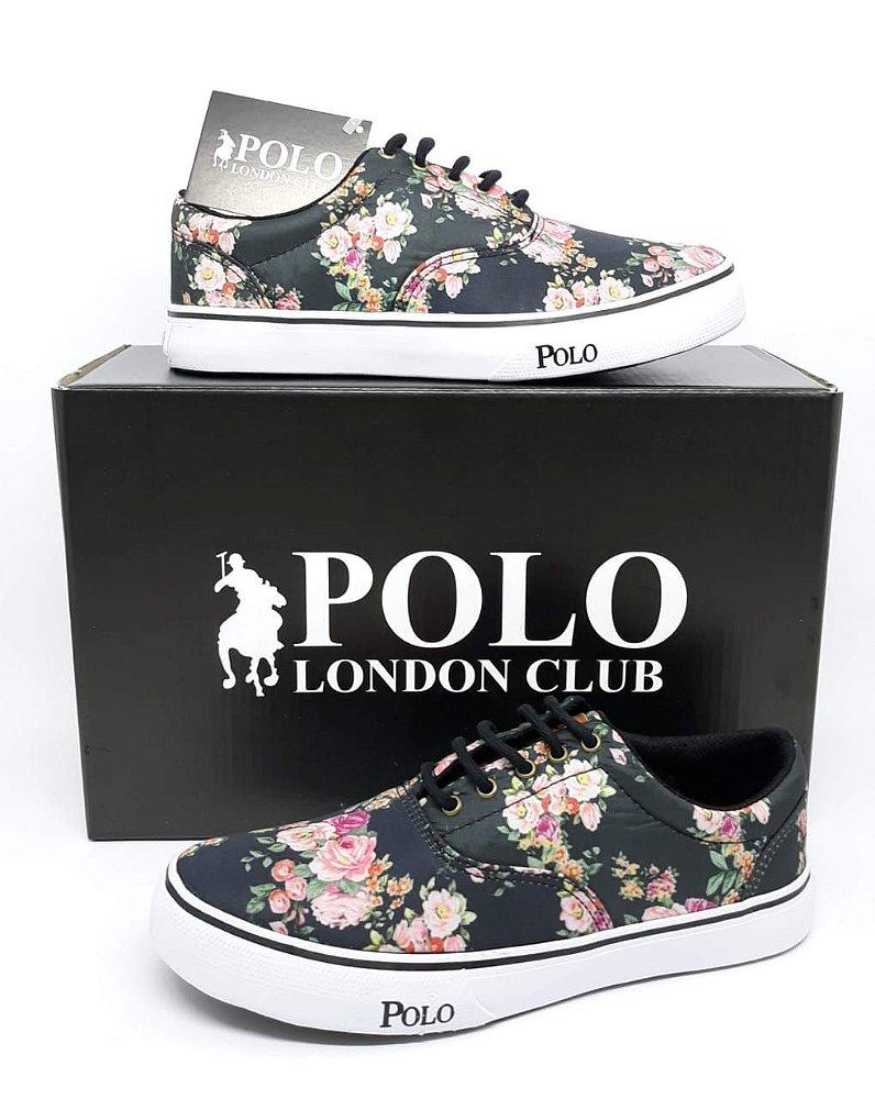 16ea96cbaf Tênis Feminino Polo London Club Florido. Código: BRV-0067. Tênis Feminino  Polo London Club Florido