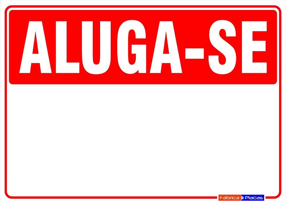 Placa Aluga-se / Vende-se personalizada. - Fábrica de Placas e Sinalização