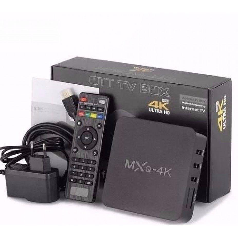 Tv box mxq 4k android 7 1 com 2 giga de ram e 16 giga de rom