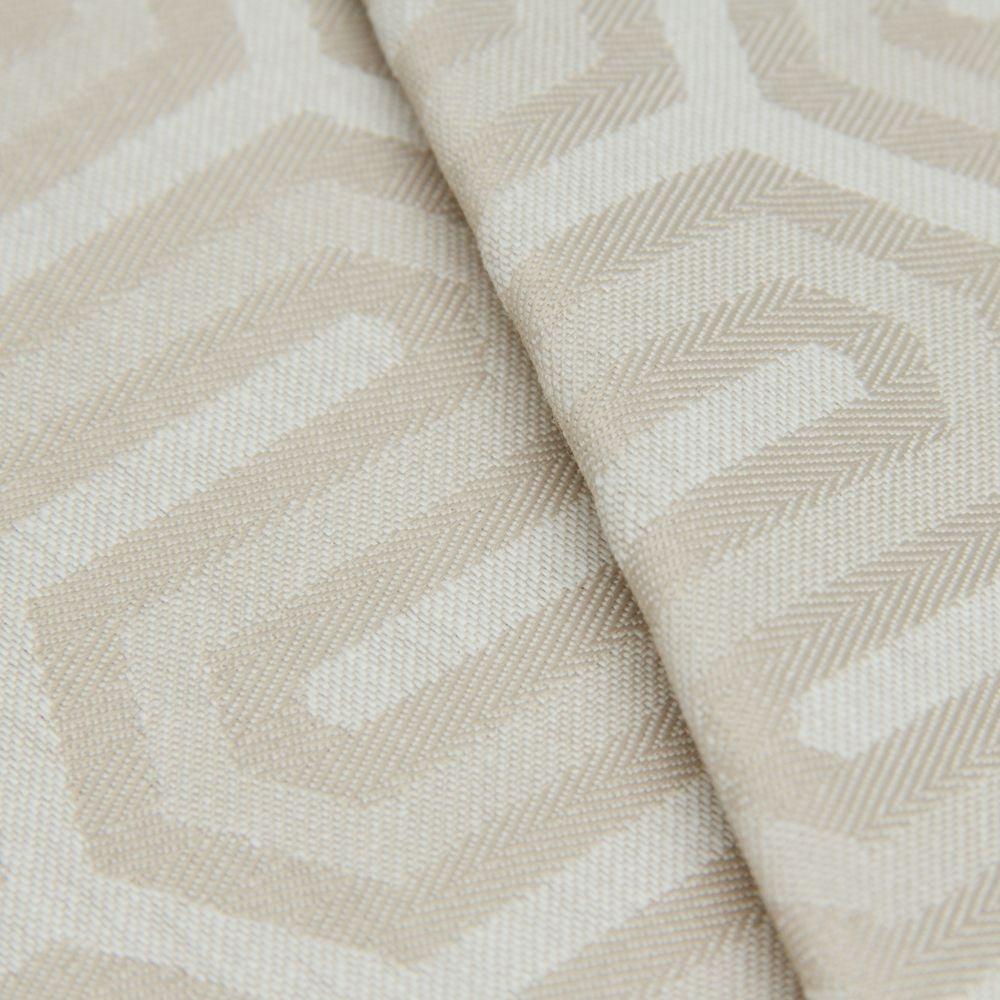 Tecido Jacquard Algodão Impermeabilizado Geometrico Areia e Creme - Pan 09  - Imagem 1 f6c712b524b