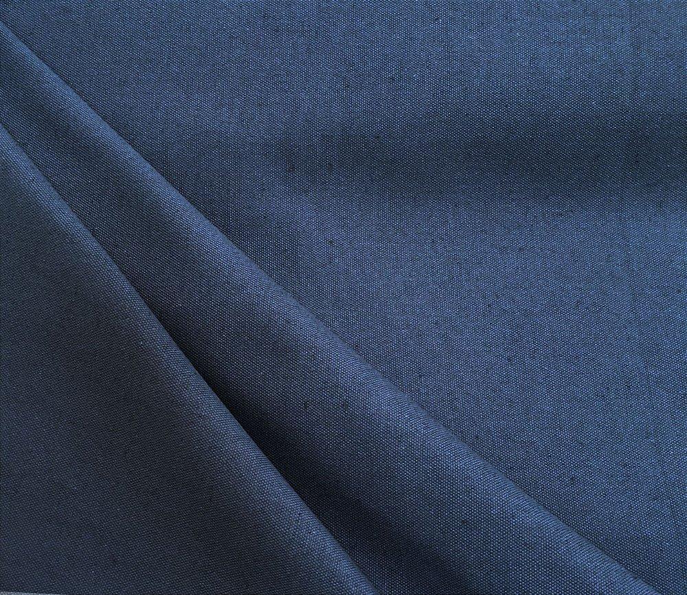 Tecido Linho Impermeabilizado Liso Azul Jeans Mace 08 Site De