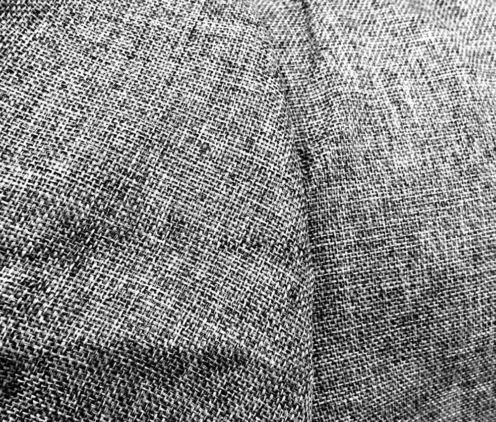 Tecido blecaute BlackOut Estilo Linho Rústico Cinza Chumbo com 2 166d402cafa