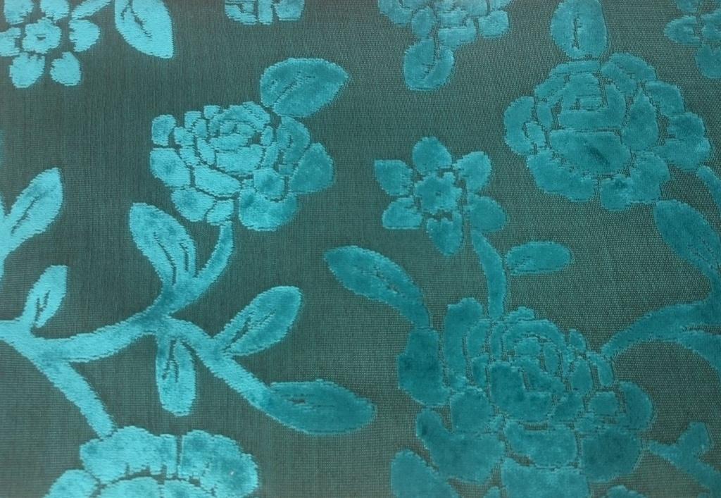 Tecido veludo Gold Floral Azul Turquesa 06 - Site de tecidos para ... 02b5fc8a23