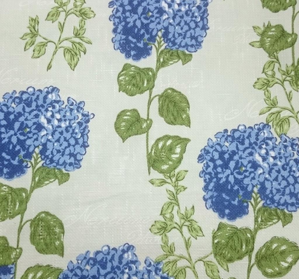 2f03cbd7c4d81b Tecido algodão impermeabilizado Linhão Floral Hortência Creme Azul ...