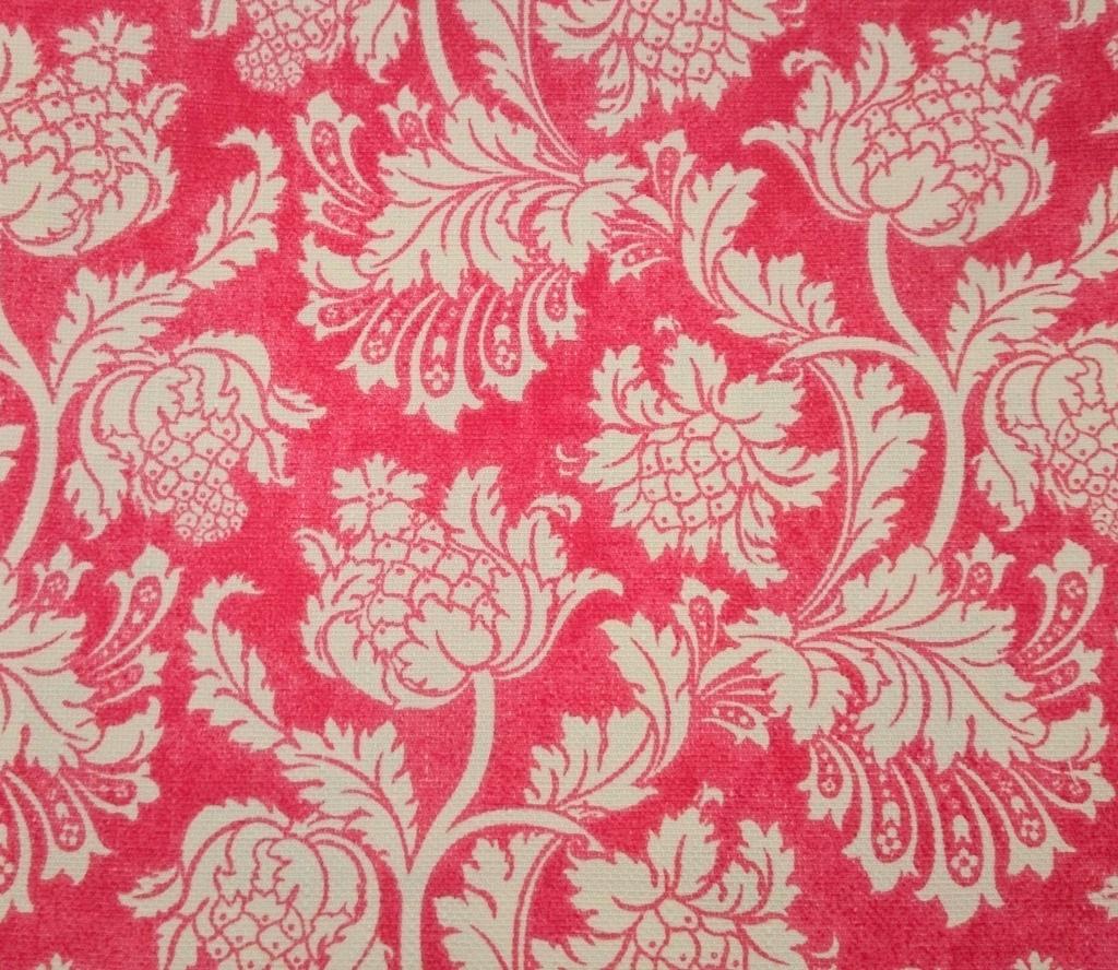 a00937acfe71cf Tecido algodão impermeabilizado Linhão Floral Vermelho e Creme ...