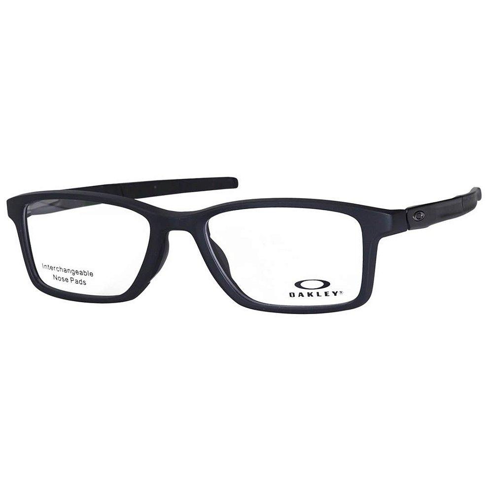 84f57edaa Óculos de Grau Oakley Gauge 7.1 OX8112 Preto Fosco Masculino ...