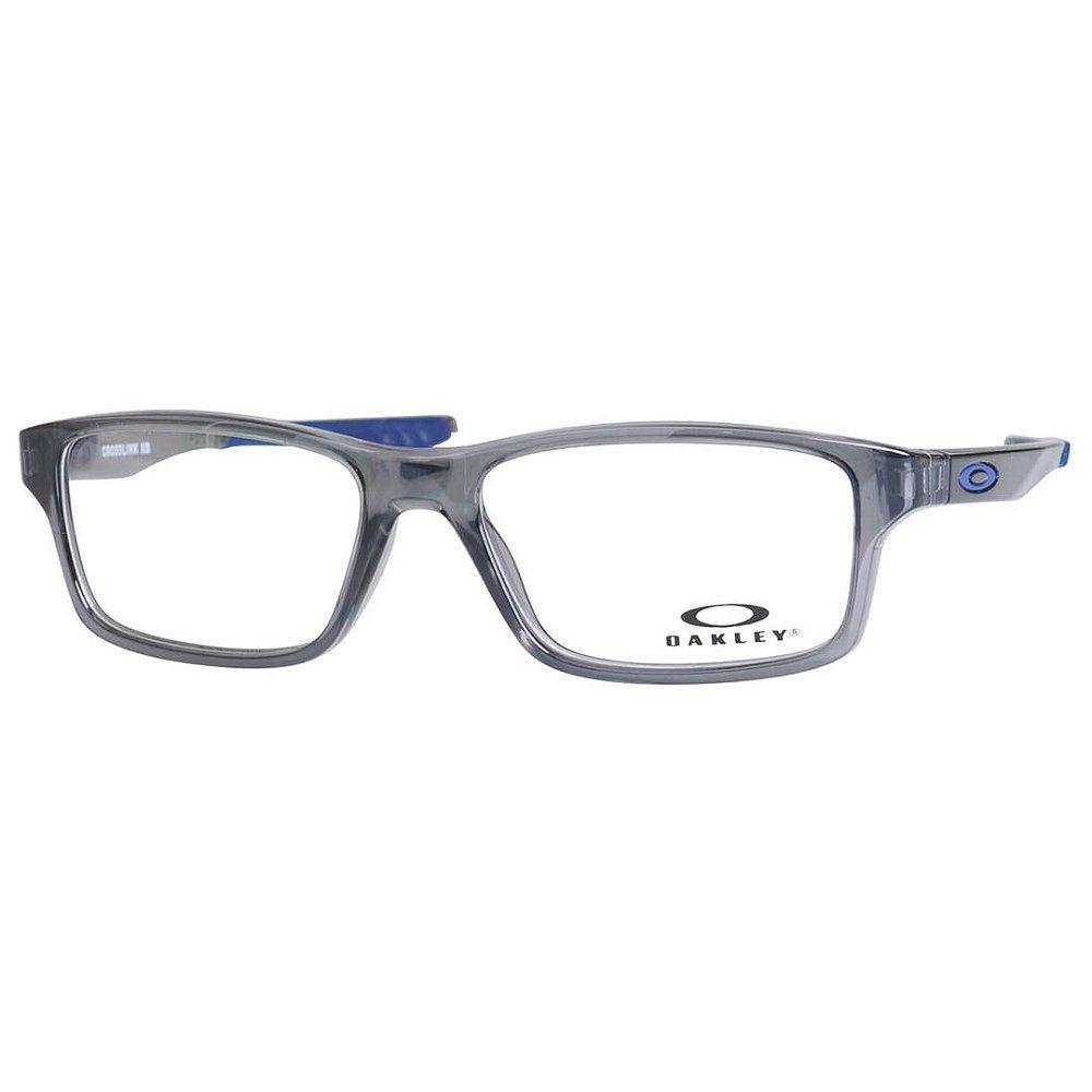 d52409433 Óculos Infantil Masculino Oakley Crosslink XS OY8002 Cinza e Azul ...