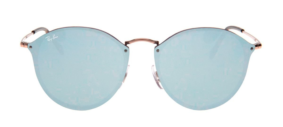 7f73392e5baa1 Óculos de Sol Ray-Ban Óculos Ray-Ban RB3574-N Blaze Round 59 - Prata ...