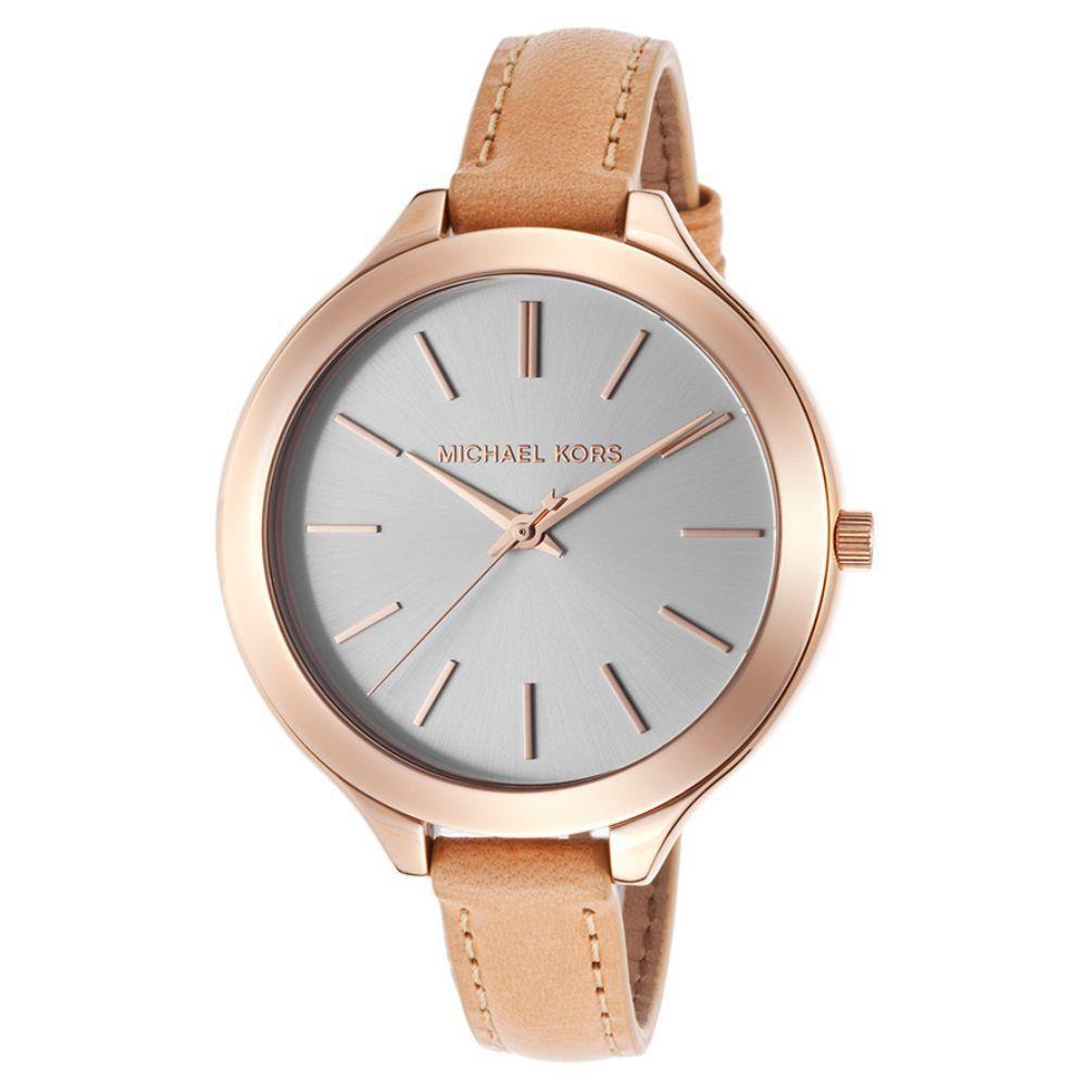 e382fce9adb Relógio Feminino Michael Kors Modelo MK2284 Pulseira em Couro   A ...