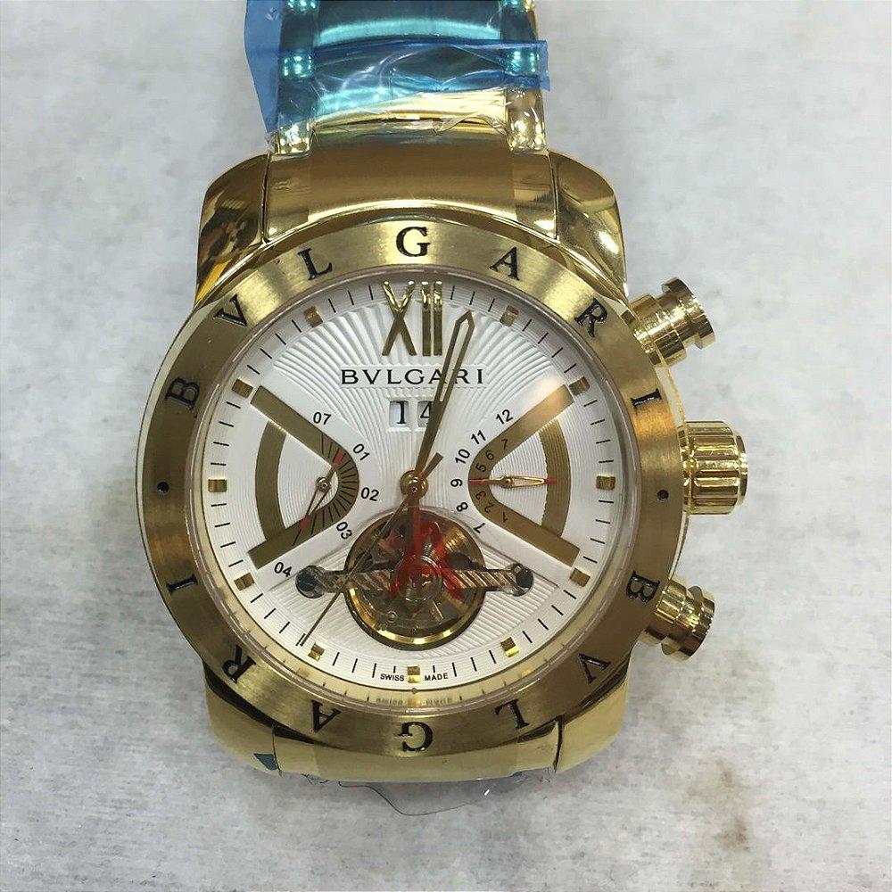 BVLGARI AUTOMÁTICO AÇO - O melhor dos relógios - loja online 907bdd8f1b
