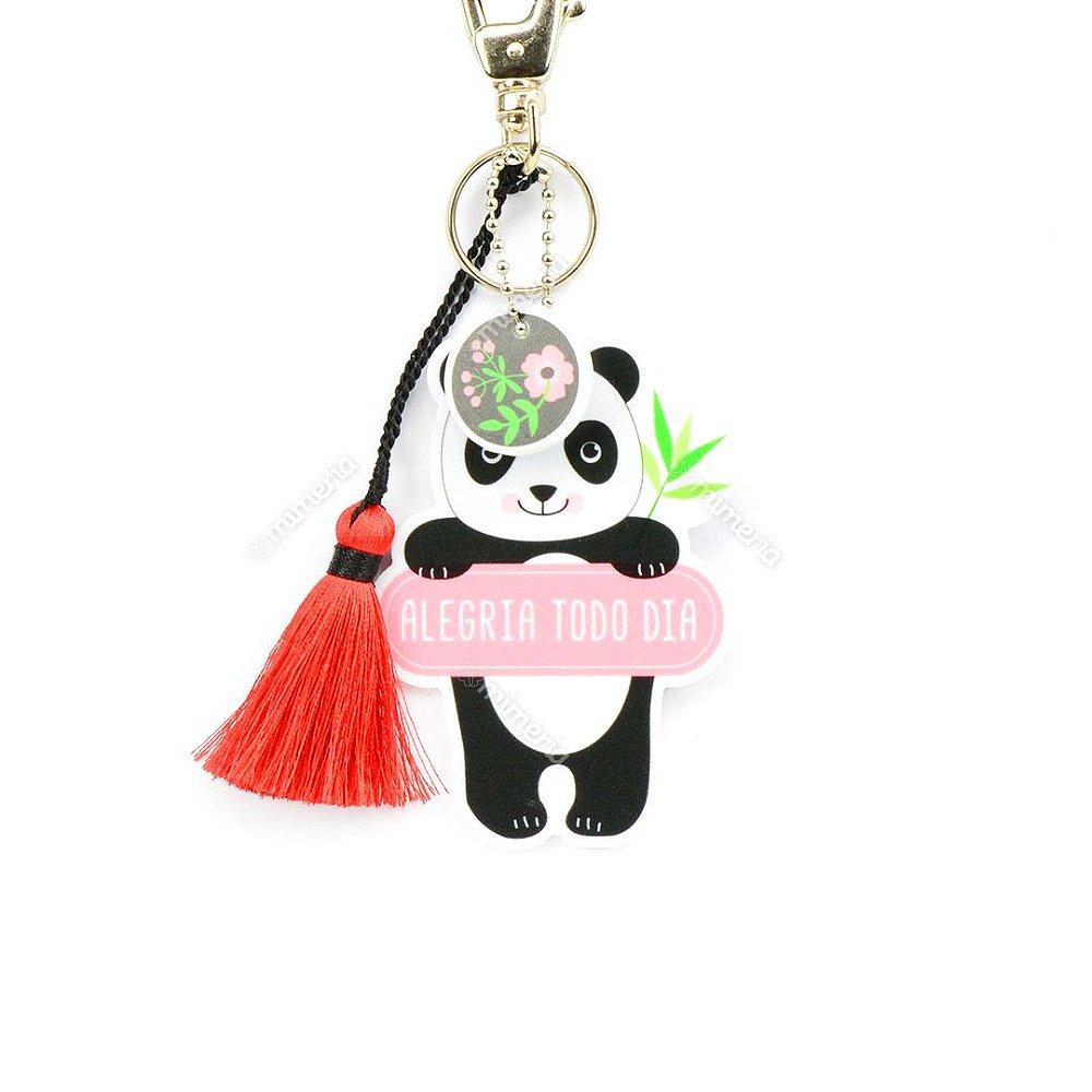 c0e22da6ea785 Chaveiro Oval Panda - Mimeria