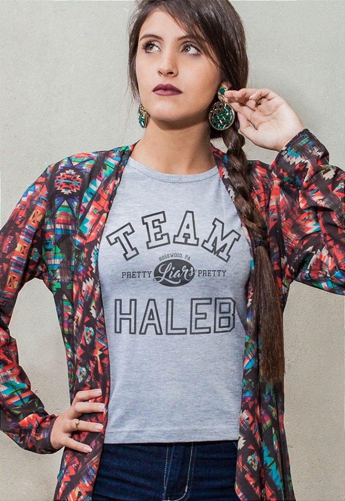 Camiseta Pretty Little Liars Team Haleb - Mustache Camisetas