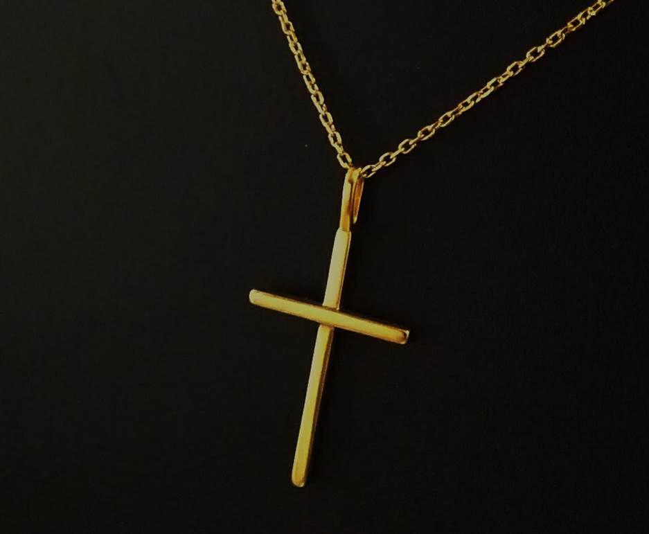 Pingente cruz de ouro amarelo 18k - Eduardo Cunha Joias 00b8a6a9f4