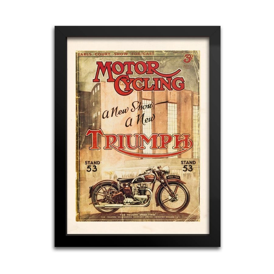 Placa Decorativa Moto Triumph