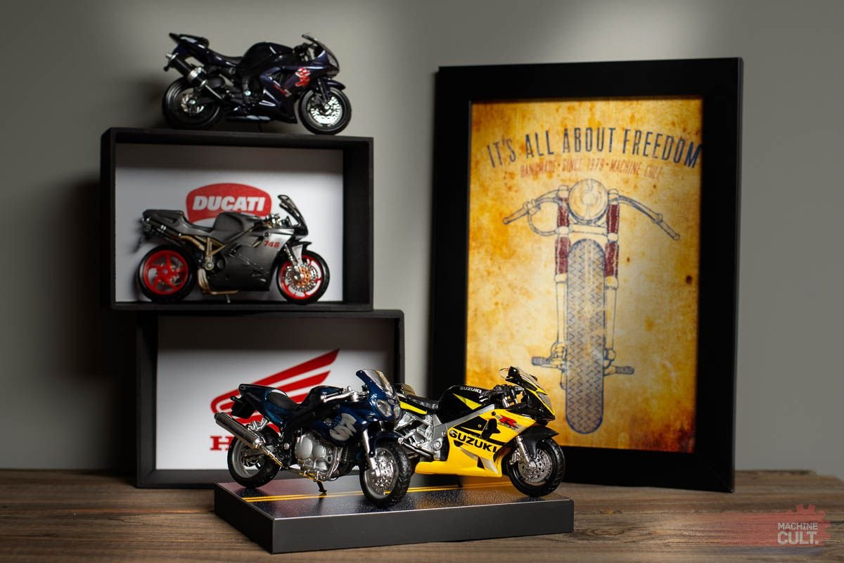 Expositor para miniaturas de moto Esportiva e Speed