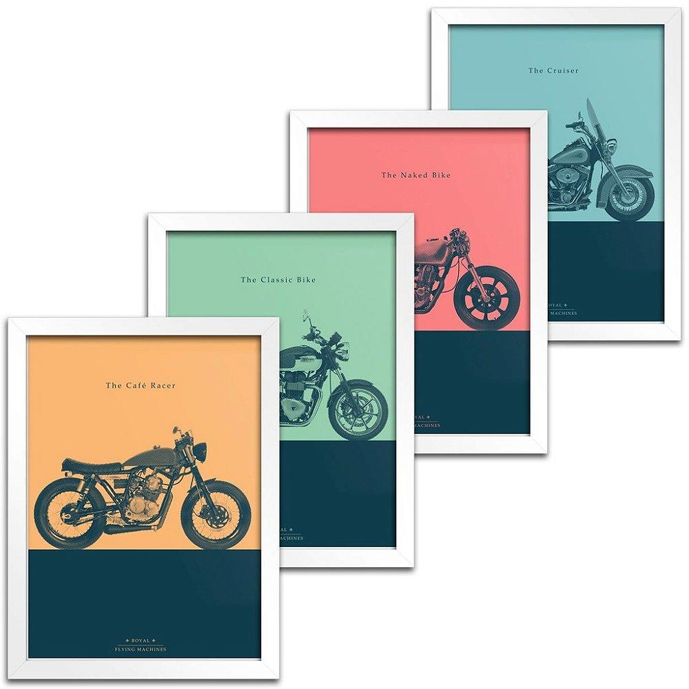 quadros com imagens de moto para decorar