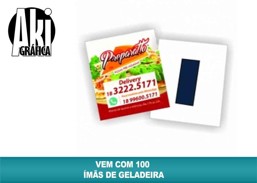 97f50bc9bb3 ÍMÃ DE GELADEIRA TIRA COLADA (100 peças) - Aki Grafica