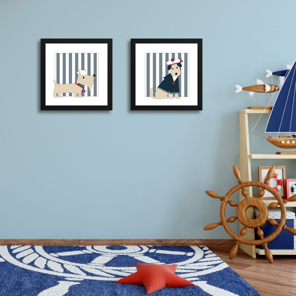 Quadrinhos Navy quarto de bebê e infantil