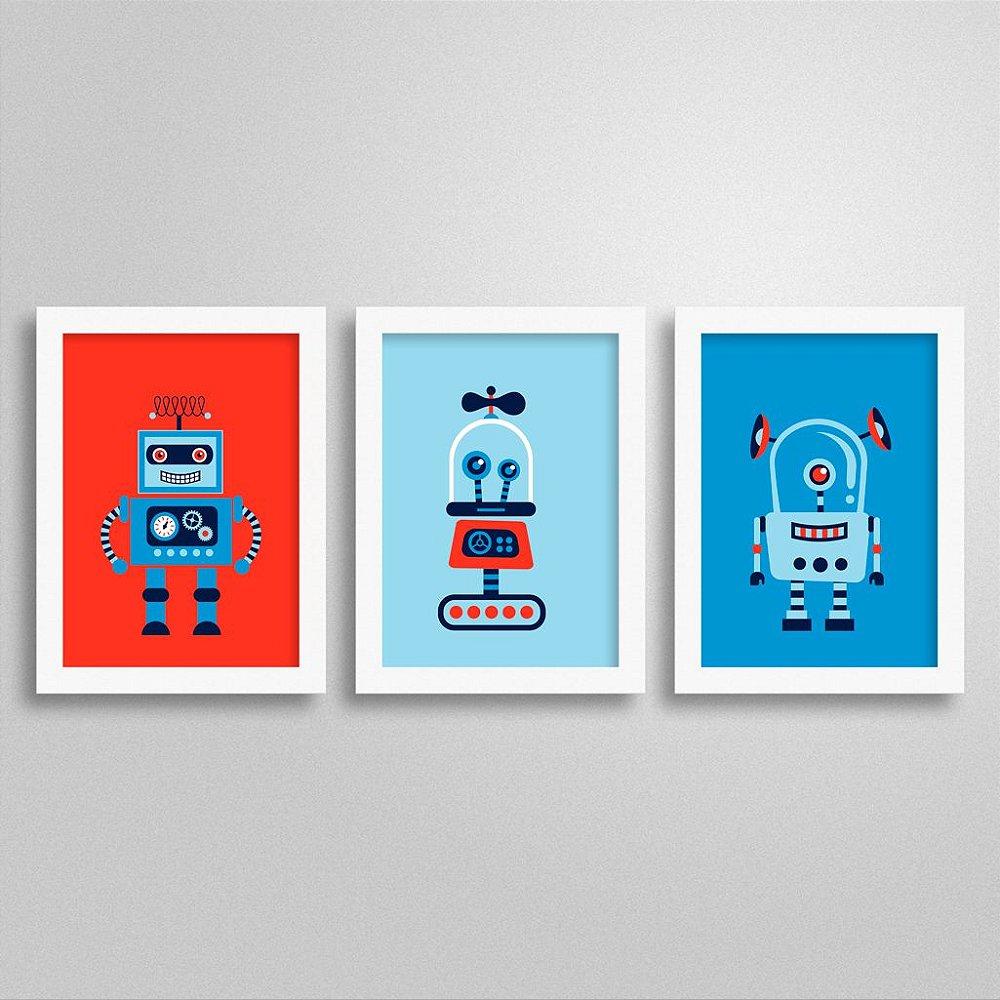 Quadros com temática Robôs para quarto infantil
