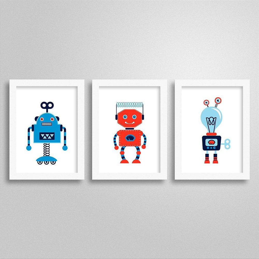 Quadros para decoração Infantil Robô
