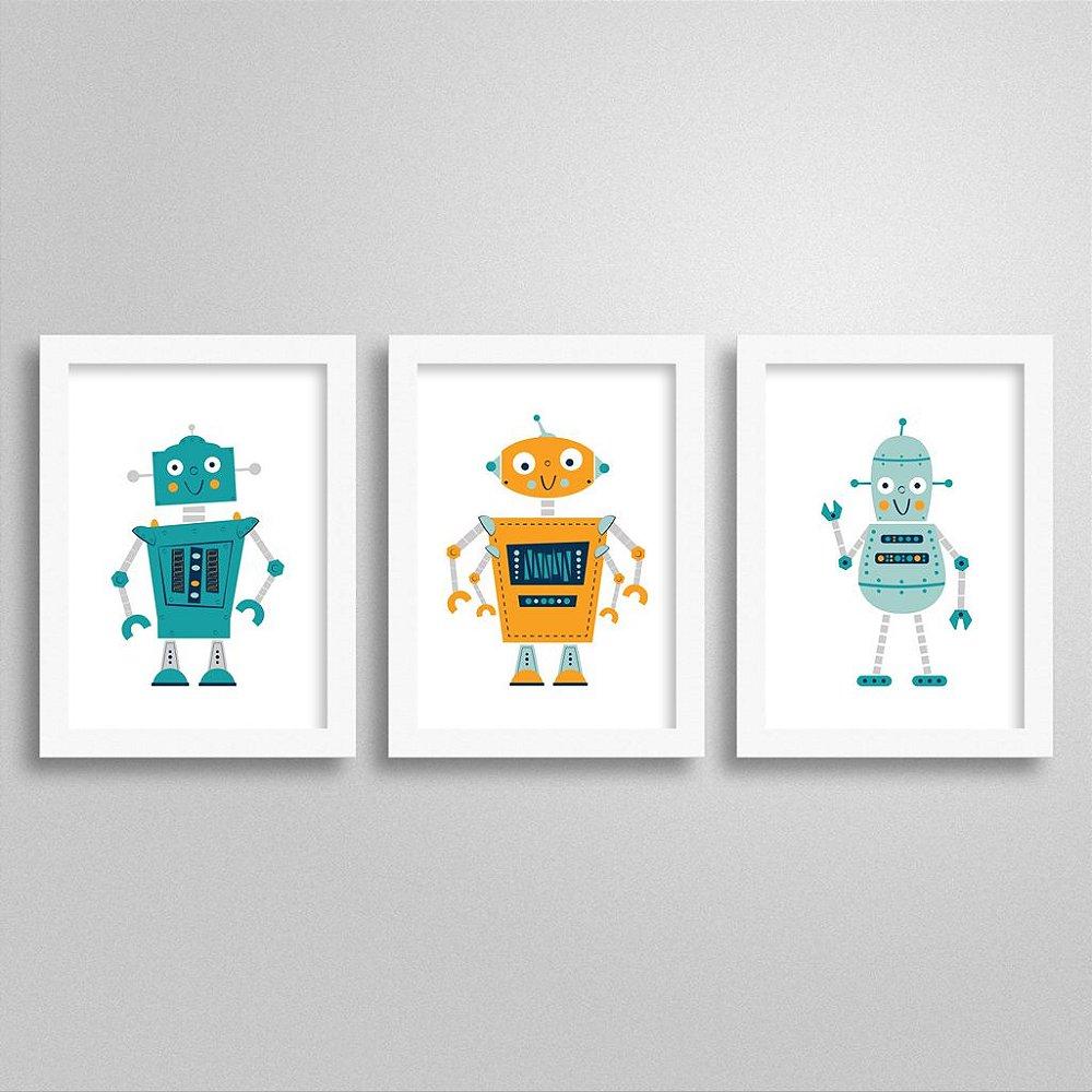Quadrinhos Decorativos Robô