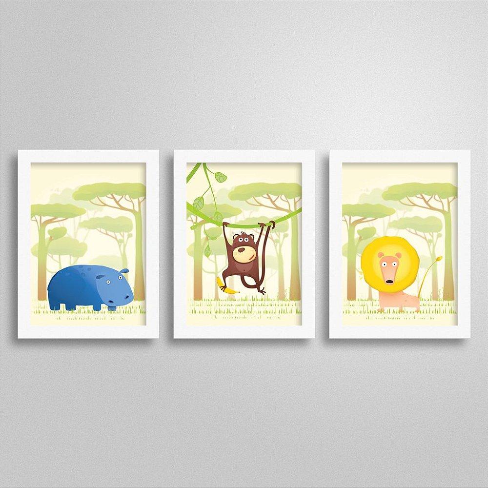 Quadros tema Safari para quarto infantil