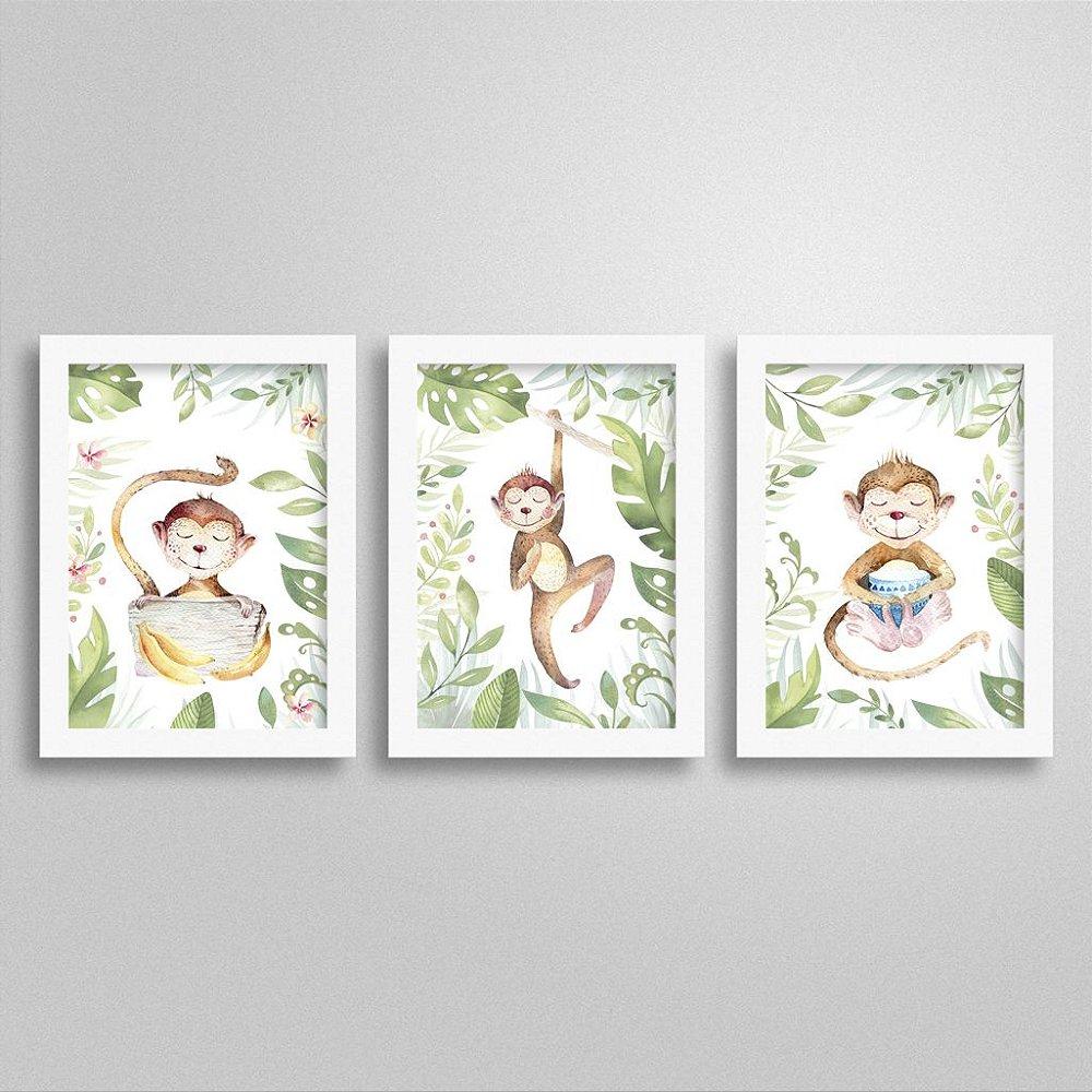 Quadros Bichinho de Safari: Macaco