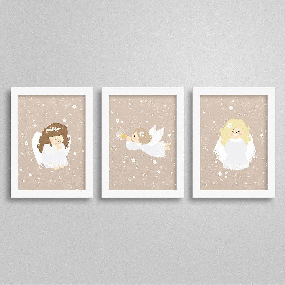 Quadros Decorativos Anjos quarto de menina