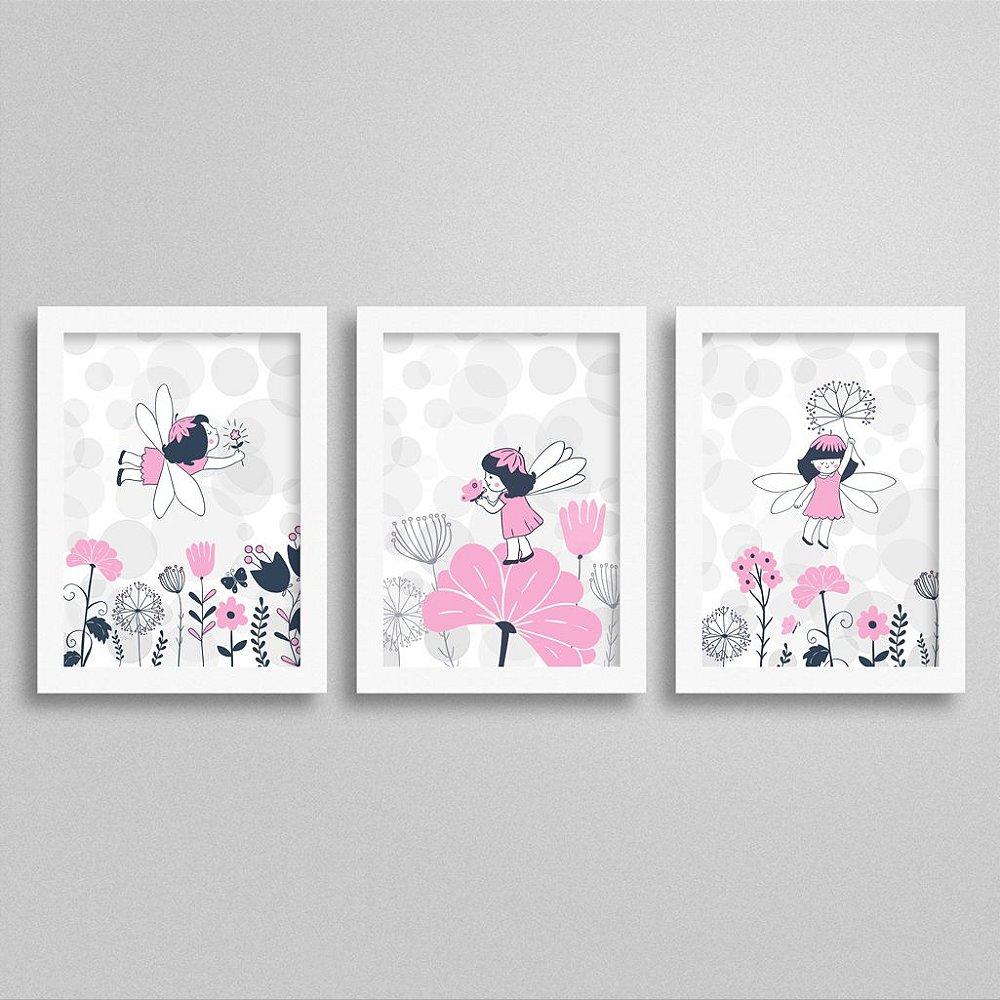 Quadros Decorativos Fadas para quarto de menina