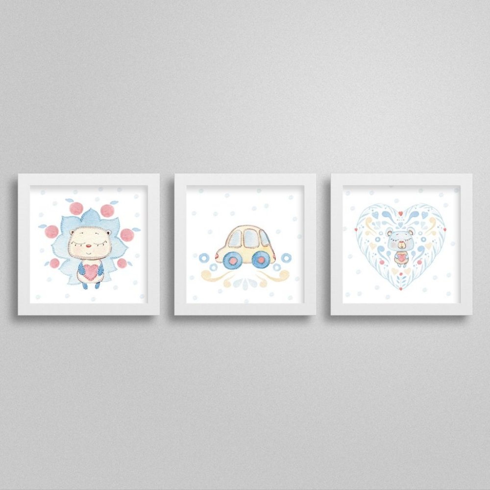 Quadrinhos Decorativos Sweet Baby Boy