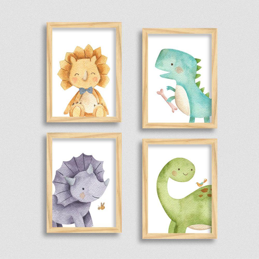 Quadros com tema dinossauro para quarto Infantil