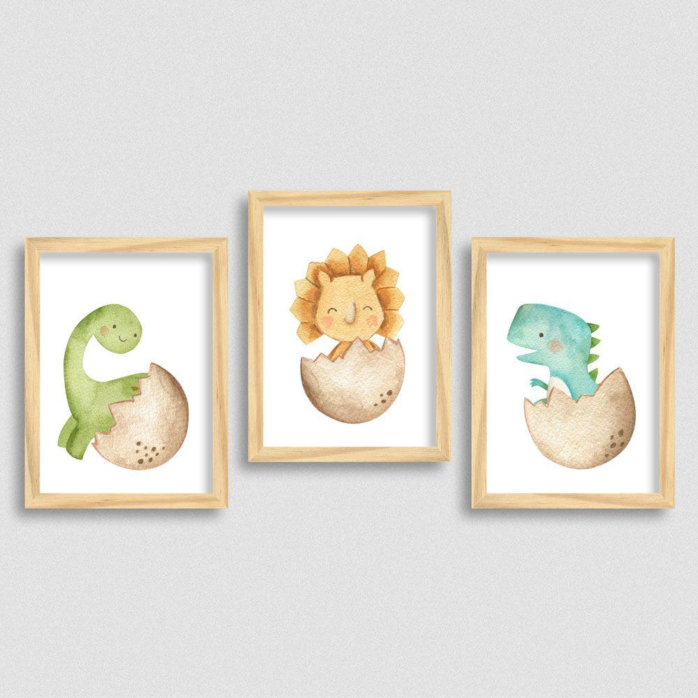 Quadrinhos com tema dinossauro para quarto Infantil