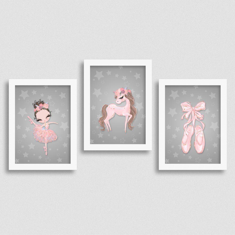 Quadro Balé e Bailarina Love 2