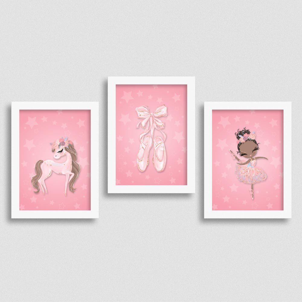 Quadro Balé e Bailarina - Kit Love 3