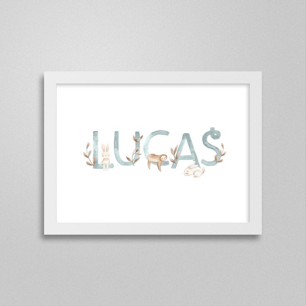 Quadro com nome: Lucas