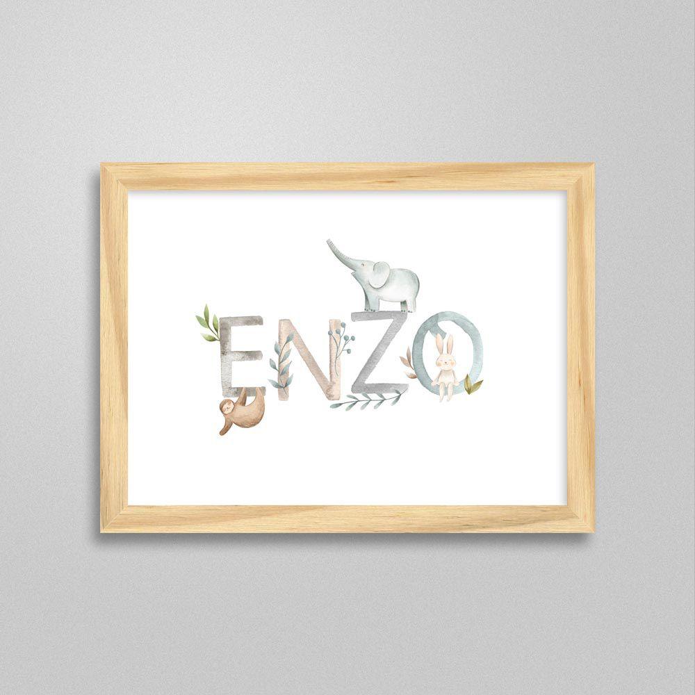 Quadro com nome Enzo