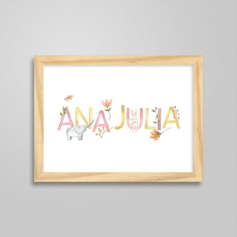 Quadro com nome Ana Julia