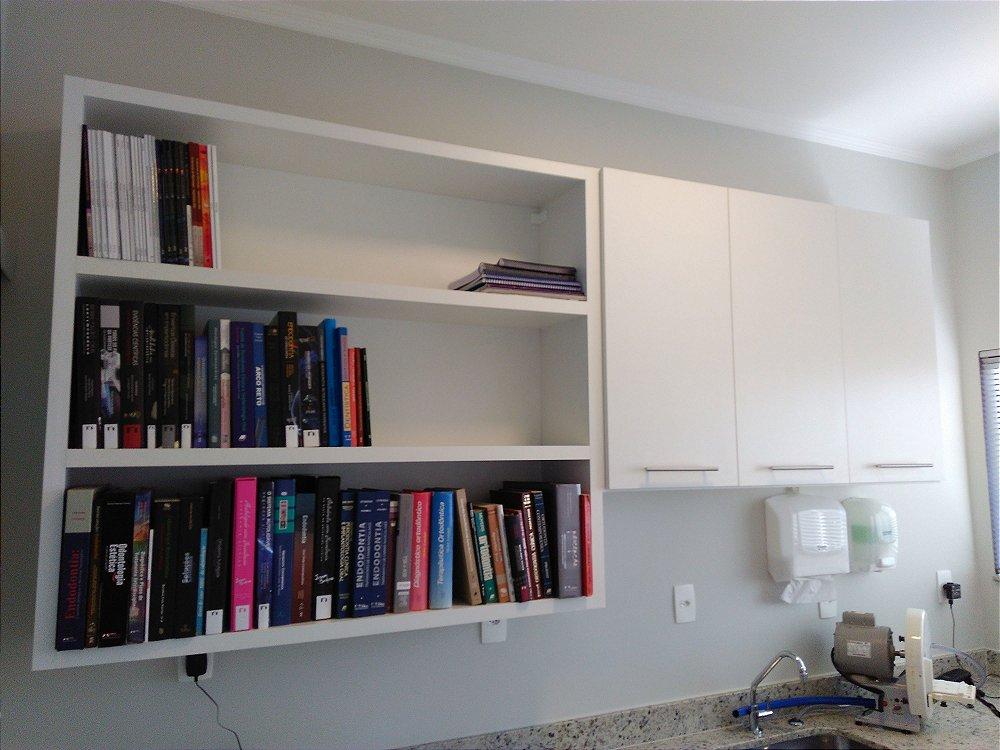 Arm rio e estante para livros planejados sob medida j - Estantes para armarios ...