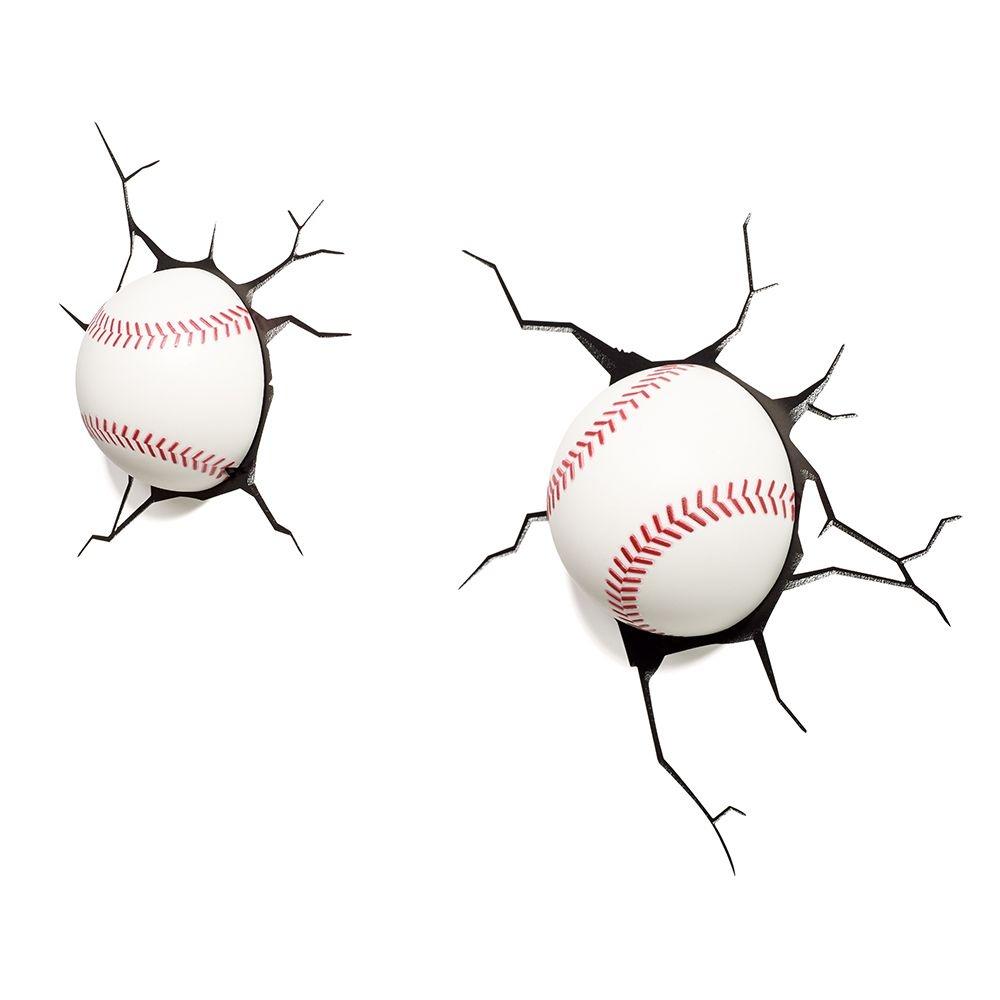 Luminária 3D Light FX Bolas de Baseball (par). Código  3D-BASE. Luminária  3D Light FX Bolas ... b228039693233