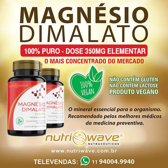 Magnésio Dimalato Nutriwave