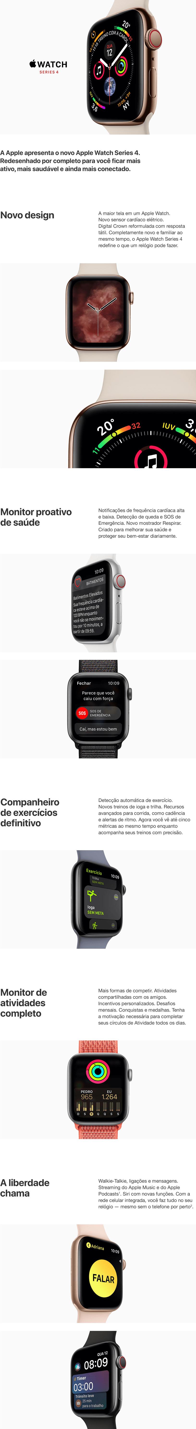 apple watch serie 4 novo 40/44 mm